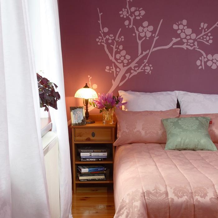 galeria zdję� fioletowa sypialnia ze zmys�ow� nut�