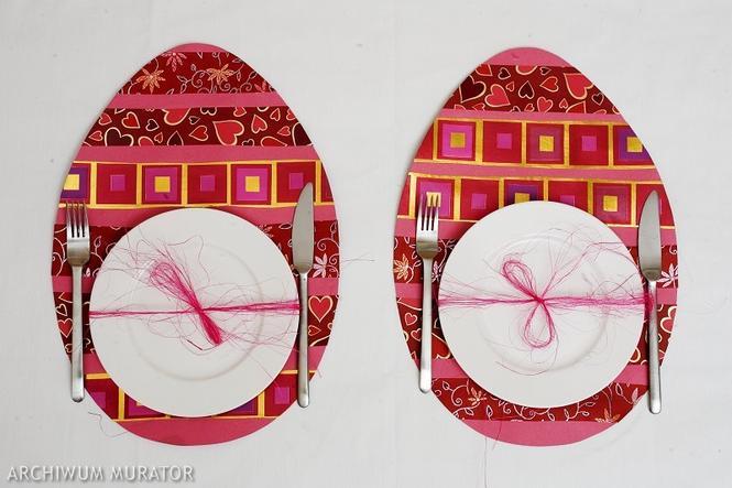 Zastawa stołowa na wielkanocne śniadanie: