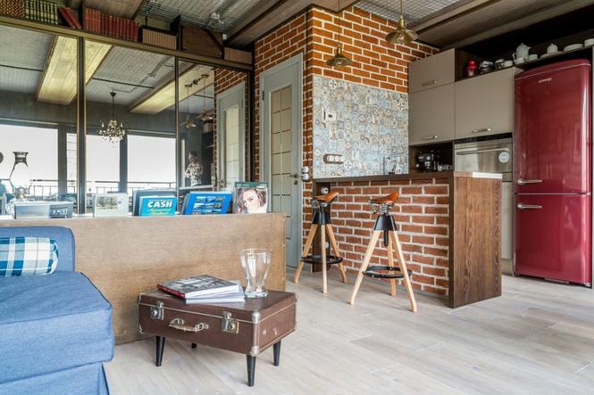 Małe mieszkanie w klimacie loftu