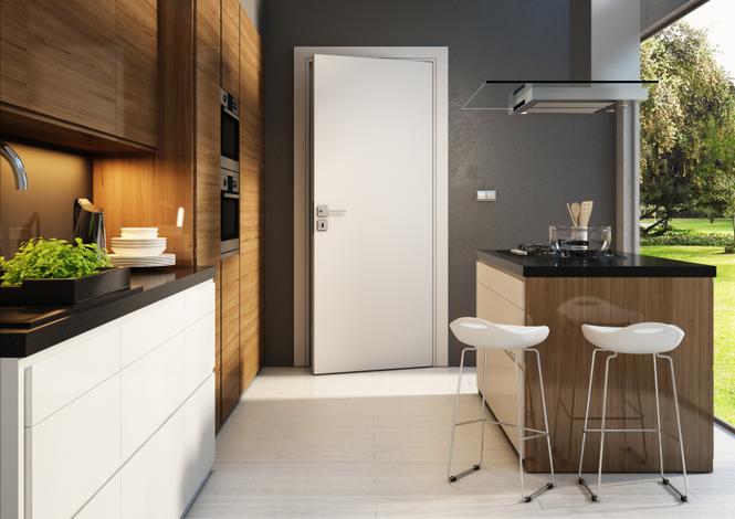 Drzwi wewnętrzne w nowoczesnej kuchni