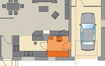 Spiżarnia domowa idealnie zaplanowana w projekcie domu